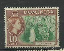 Dominica 1954 Sg 150, 10c Green & Brown, Very fine used. [642]