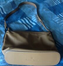 Etienne Aigner purse, camel leather bag, zip top,soft leather,logo on bottom,EUC