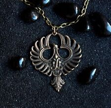 Phoenix Firebird Mythical bird Garuda Bird Necklace Bird Pendant : Bronze...