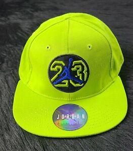 Michael Jordan Youth Jumpman 23's Neon Gree ln Cap Hat MJ 4/7 SHIPPED PROMPTLY
