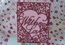WITH LOVE ~ VALENTINE'S DAY HANDMADE GREETING CARD ~HEART DIE #emc1722