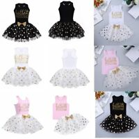 Toddler Kids Girls Princess Dress Baby Birthday Party Tutu Skirt Clothes Outfits