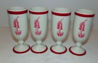 Carr Brennan Restaurant Ware New Orleans Diablo Jester King Cups set of 4
