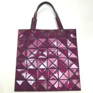 ISSEY MIYAKE BB83-AG623 Baobao Lucent 2 Hand Bag Tote Bag PVC purple