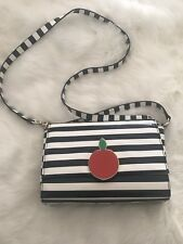 NWOT Kate Spade Darcel Tobyn Big Apple Striped crossbody bag purse handbag