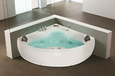 di design WHIRLPOOL ANGOLARE vasca da bagno con massaggio + LED Hot Tub Spa