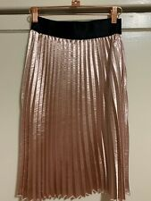 CHARLOTTE RUSSE Pleated Pink A-Line Skirt