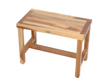 EcoDecors EarthyTeak Classic Indoor/Outdoor Teak Wood Shower Bench Seat Chair