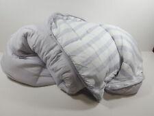 Linenspa All-Season Reversible Oversized King Comforter - Grey/White Stripe