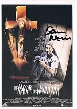 "Sam Neill 1947- genuine autograph signed CINEMA movie poster card 4""x4.5"""