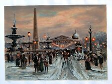 Place de la Concorde Serigraph 389/395 hand signed by Andre Boyer, listed artist