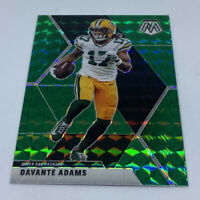 2020 Mosaic Football Davante Adams Green Prizm #83 Green Bay Packers