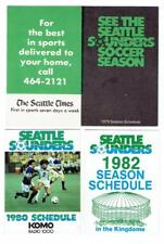 SEATTLE SOUNDERS soccer ~ 1979, 80, 82 Pocket Schedules ~ FREE SHIPPING