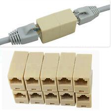 10x RJ45 Cat5 Keystone Jack Module Plug Network Cable Coupler Joiner Connector