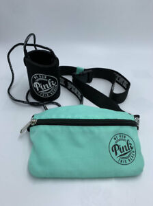 Victoria's Secret Pink We Run This Beach Teal Fanny Pack Can Koozie Lanyard Set