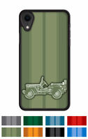 "Jeep Willys 1944 - 1945 WWII ""Stripes"" Cell Phone Case iPhone and Samsung Galaxy"