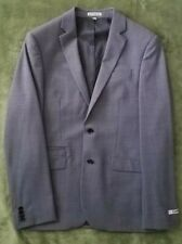 Mens Express 38R Photographer Fitted Grey Suit Jacket *New*