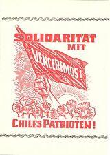 DDR - Gedenktblatt, Solidarität mit Chiles Patrioten