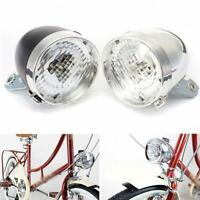 LED Vintage Bike Headlight Bicycle Retro Head Light Front Fog Lamp
