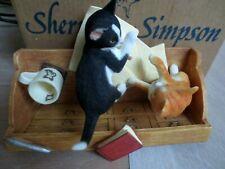 More details for new sherratt & simpson cat pair on bureau boxed 56899 2cute mischievous kittens