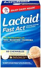 3 Pack Lactaid Fast Act Lactase Enzyme Supplement Vanilla 60 Caplets Each