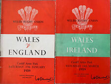 More details for wales v england & ireland 1959 rugby union