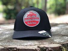 "Patagonia ""Haleiwa"" Trucker Hat - Hat Patch - Black - Flying Fish"