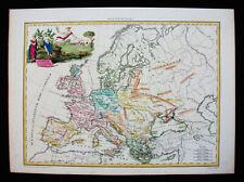 1812 LAPIE - rare map of ANCIENT EUROPE, EUROPEAN EMPIRE, SCANDINAVIA, POLAND
