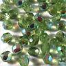 Facetadas Bohemio 4mm Verde Lima AB Lote de 50 perlas