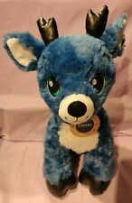 Build a Bear Merry Mission Tinsel Reindeer Retired 2016 Blue Christmas