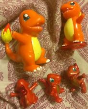5 Different Charmander Vintage Nintendo Figurines PVC Kanto Mini Figure Toy Lot