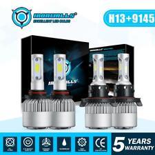 H13 9008 LED Headlight HI/LO+9145 9140 Fog Lights for 2004-2014 Ford F-150 F250