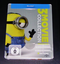MINIONS 3 MOVIE COLLECTION LIMITED STEELBOOK EDITION BLU RAY NEW & VINTAGE