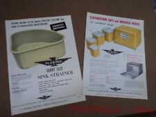 Vintage PLAS-TEX Plastic Kitchen Canister Bread Box Catalog Sheet Brochure Lot