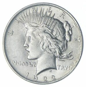 Choice AU/UNC 1922 Peace Silver Dollar - 90% Silver *940