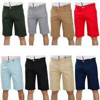 Mens Chino Shorts Cotton Casual Summer Jeans Cargo Combat Half Pants Sizes 32-40