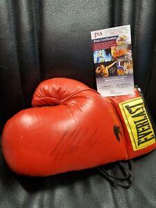MIKE TYSON Signed Everlast Red Full Size Boxing Glove JSA/COA