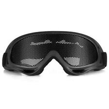 Safety Protect Anti-Fog Airsoft Metal Tactical CS Mesh Goggles Eye Glasses