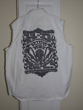 HARLEY DAVIDSON BLOWOUT SLEEVELESS SHIRT VEST WHITE H-D RIDE HARD Mens Size XL