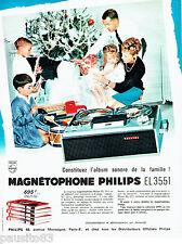 PUBLICITE ADVERTISING  026  1964  Philips  magnétophone EL 3551