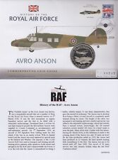 2008 Bank of Nauru First Day Coin Cover AVRO ANSON History of the RAF FDC COA