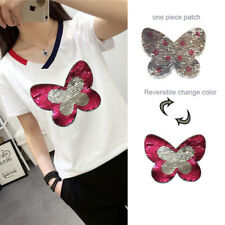Butterfly Sewing Sequin Embroidery Shirt Patch Clothes Applique Patch Reversible