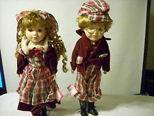 Collectors Menie Porcelain Dolls 2 dolls Andrew and Mamie