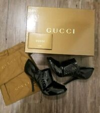 GUCCI Pantent Leather Bootie Heels Size 6