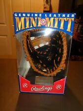 NEW Rawlings Mini Leather Baseball Glove MARK McGWIRE Collectible Cardinals