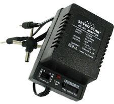Seven Star 1.5V,3V,4.5V,6V,7.5V,9V,12V DC, 1000mA Regulated Universal AC to DC