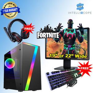 Fast Gaming PC Bundle Intel Quad Core i5 4th Gen 16GB SSD HDD Win 10 2GB GT1030
