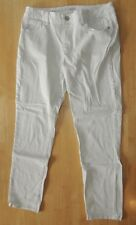 ANA A.N.A Jeans Bottoms Pants Crop Capri Skinny Ankle Tall White 31 12T Beach