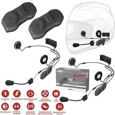 SENA Headset 10R DOPPELSET Bluetooth 4.1 mit Radio Kommunikation System Motorrad