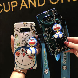 Cute cartoon Doraemon Doll strap Laser case for Samsung Galaxy S20+ Note10+ S10+